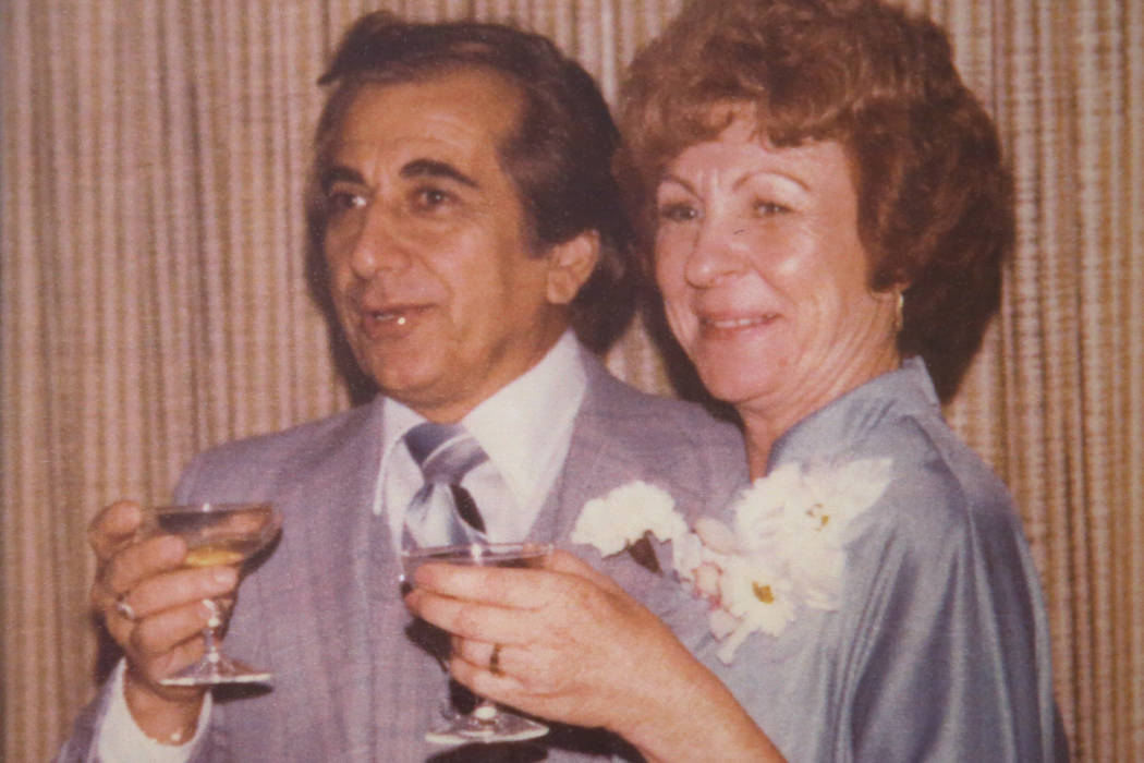 A picture of Joe Baykara, left, 93, and his wife Etta, 91, at their home in Las Vegas, Wednesda ...