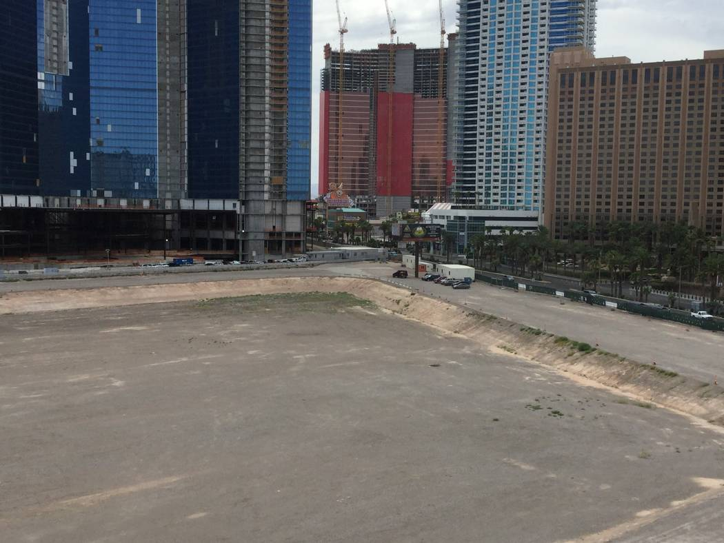 Ex-NBA player Jackie Robinson's vacant project site, where he plans to build an arena, hotels a ...