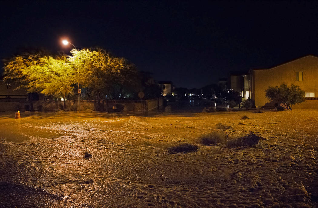 Nearly three feet of flood water fills the intersection of West Fitzwilliam Avenue and South Fo ...