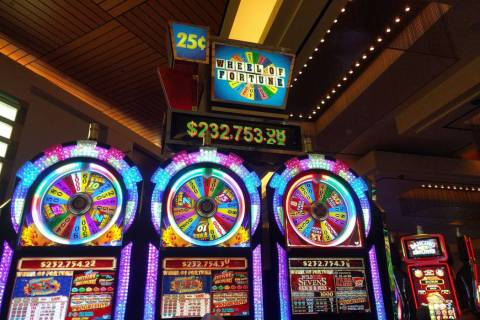 """IGT's 25-cent progressive """"Wheel of Fortune"""" game. (Las Vegas Review-Journal)"""