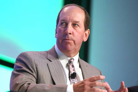 Timothy Wilmott, president and CEO of Penn National Gaming, speaks during the Global Gaming Exp ...