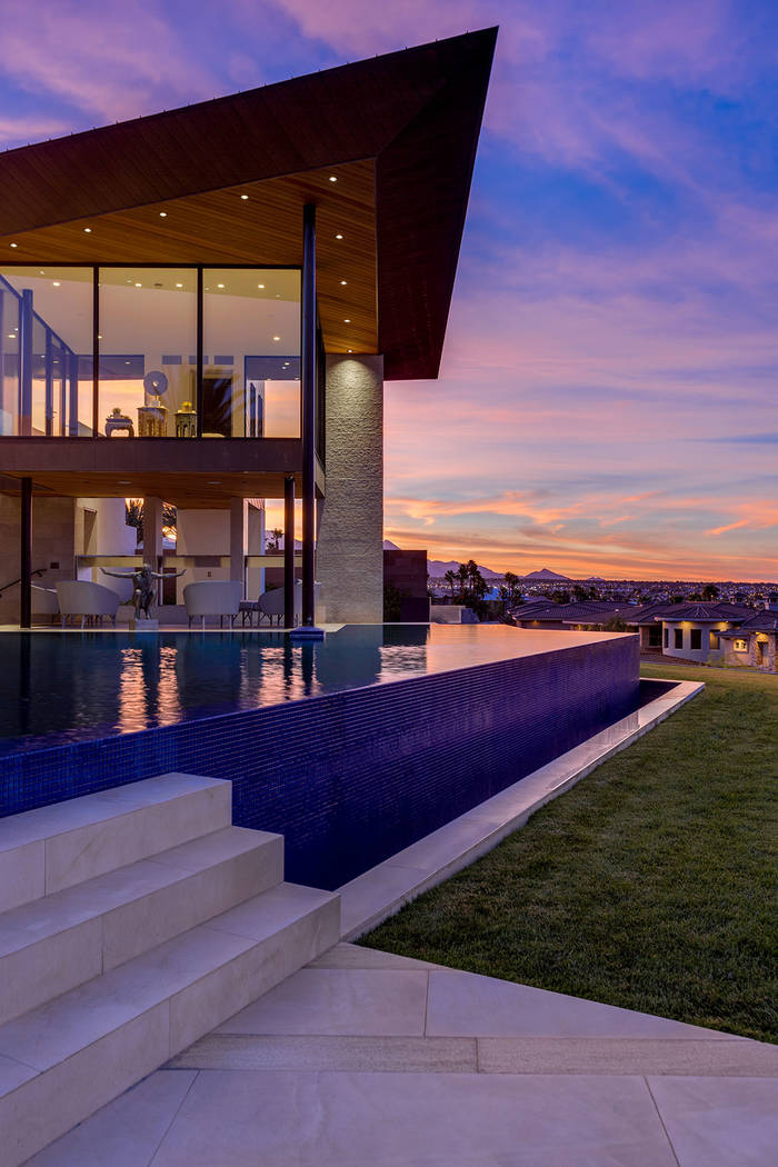 Jim Rhodes' nearly 20,000-square-foot estate on the 2-acre compound at 5212 Spanish Heights Dri ...