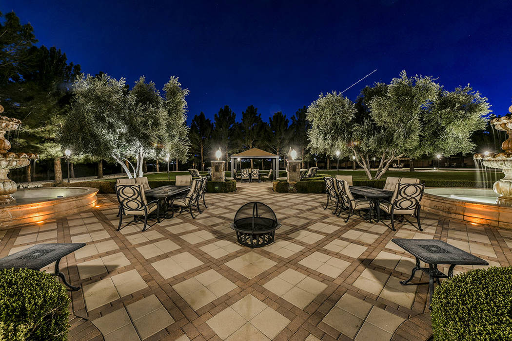 The home at 8101 Obannon Drive, north of Sahara Avenue, is a 6.8-acre estate. (Paragon Premier ...