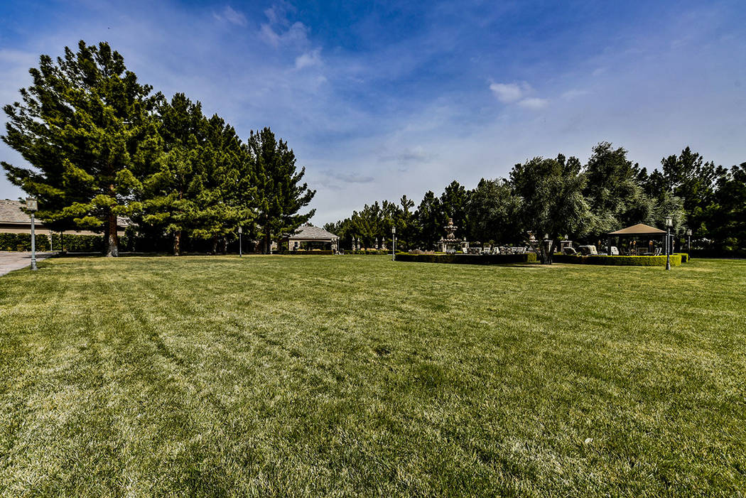 The 6.8-acre estate at 8101 Obannon Drive has plenty of grassy spaces. (Paragon Premier Properties)