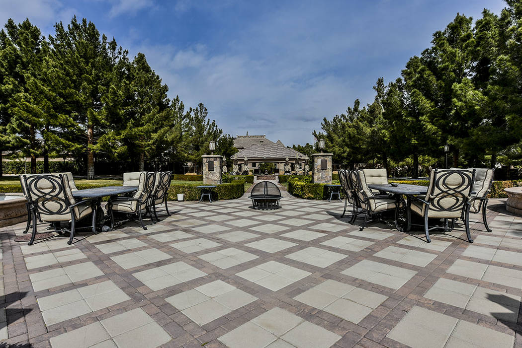 The home at 8101 Obannon Drive has lots of patio space and two guest homes. (Paragon Premier Pr ...