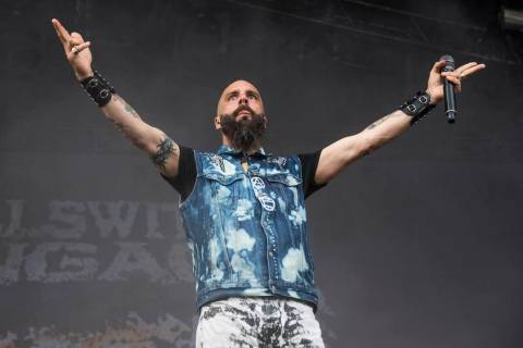 Jesse Leach of Killswitch Engage performs at the Sonic Temple Art and Music Festival at Mapfre ...