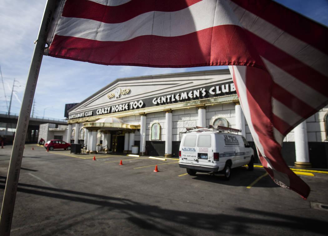 The Crazy Horse Too Gentlemen's Club, 2476 S. Industrial Road, as seen on Wednesday, Feb. 12, 2 ...