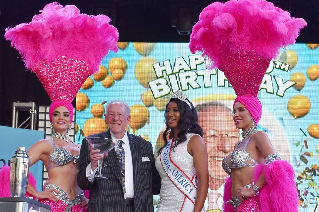 The Las Vegas downtown community celebrated the 80th birthday of former Mayor Oscar Goodman on ...