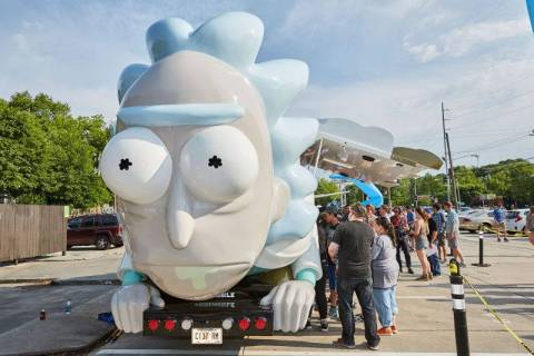 "The ""Rick and Morty"" Rickmobile pop-up shop will be in Las Vegas on Aug. 8. (Adult Swim)"