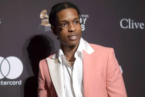 This Feb. 9, 2019 file photo shows A$AP Rocky at Pre-Grammy Gala And Salute To Industry Icons i ...