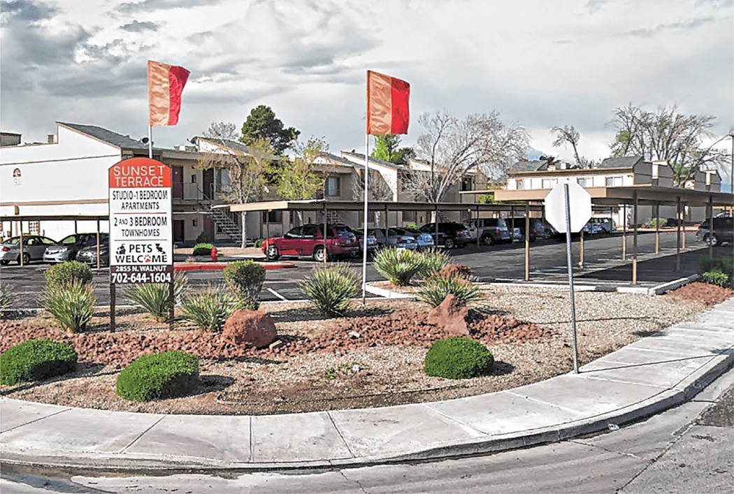 Sunset Terrace is a Las Vegas apartment complex managed by Advanced Management Group. (Google maps)
