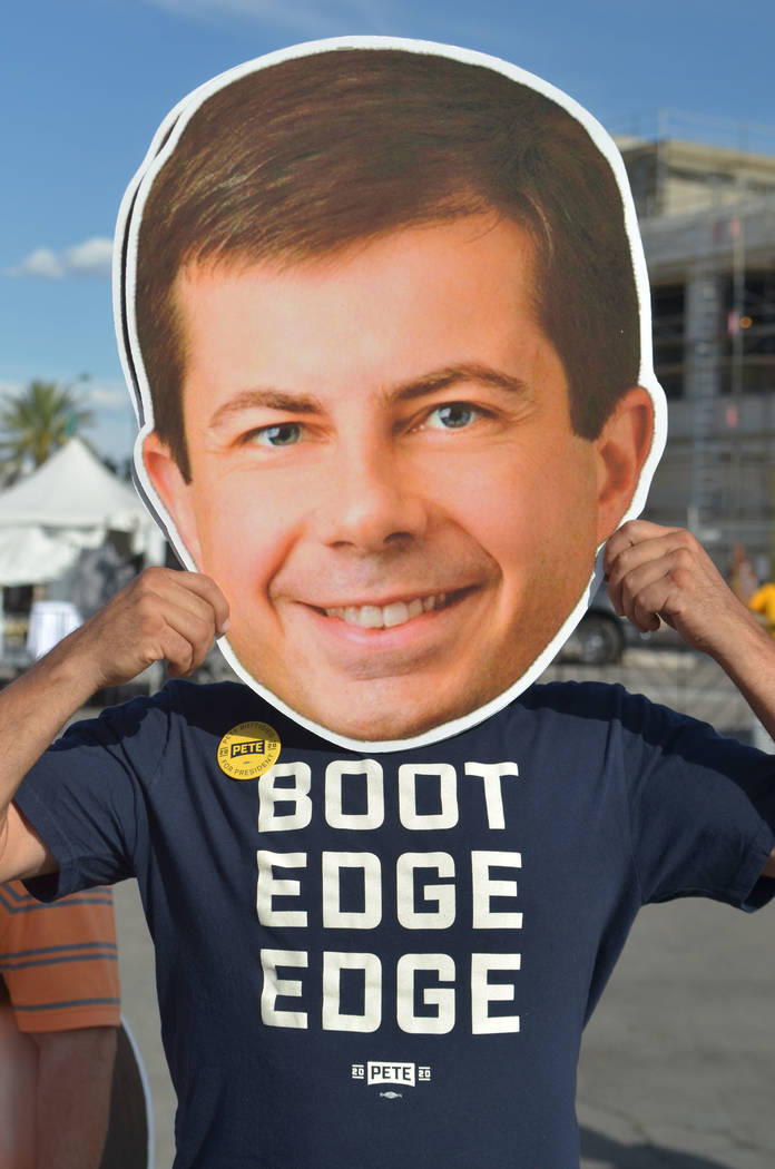 David White, a supporter for Democratic presidential candidate and South Bend, Ind., Mayor Pete ...