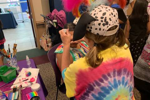 Face painting and activities for all ages were available at the celebration of Alexander Librar ...