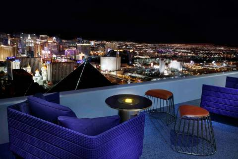 Skyfall Lounge atop The Delano Las Vegas (Las Vegas Review-Journal)
