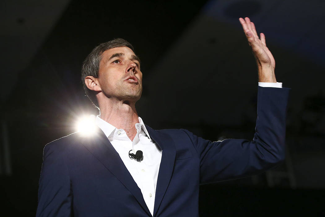Former Rep. Beto OÕRourke, of Texas, speaks during a public forum for Democratic president ...