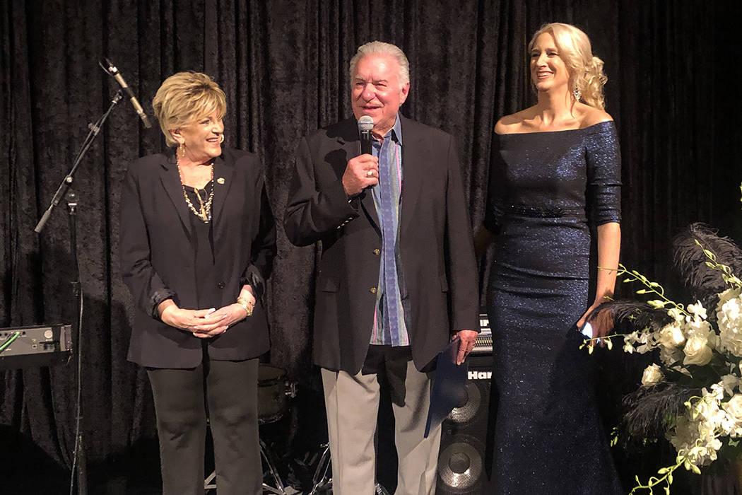 Las Vegas Mayor Carolyn Goodman, Westgate Las Vegas owner David Siegel, and Westgate General Ma ...