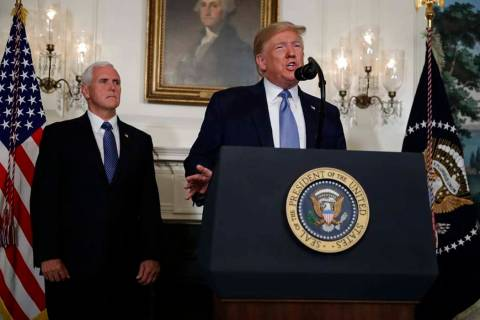 President Donald Trump speaks about the mass shootings in El Paso, Texas and Dayton, Ohio, in t ...