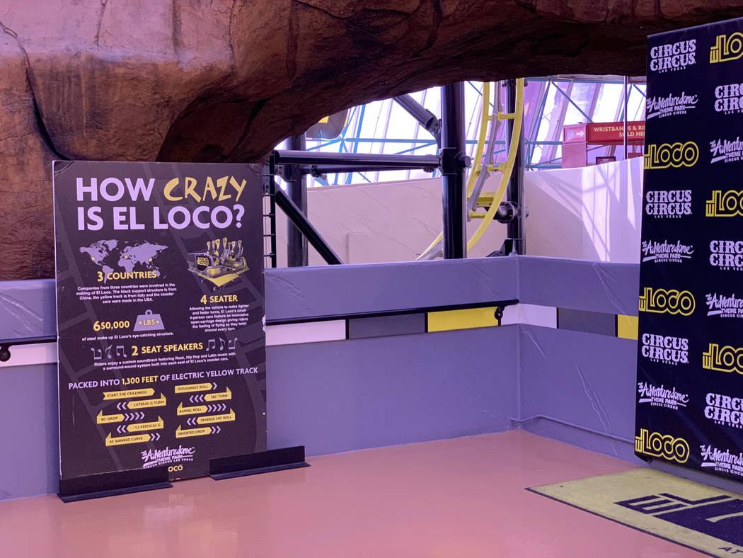 The closed El Loco roller coaster in Circus Circus Adventuredome in Las Vegas Thursday, April 4 ...