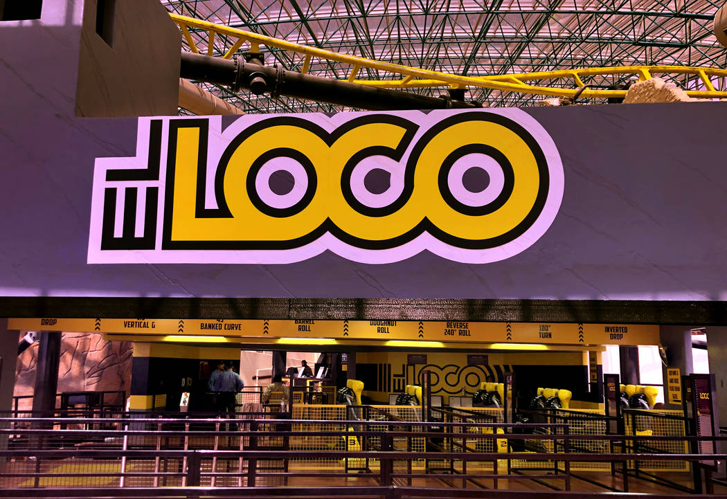 The El Loco rollercoaster within the Circus Circus Adventuredome is now being tested without ri ...