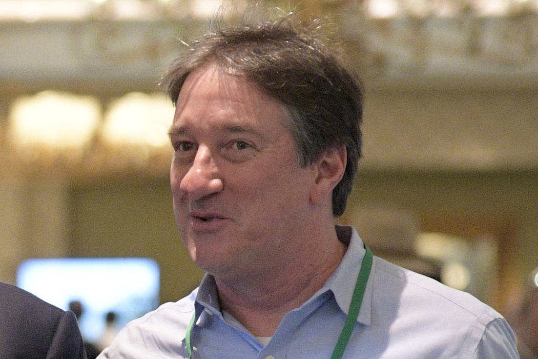 Don Banks is shown during an NFL owners meetings in Orlando, Fla. on March 26, 2018. (AP Photo/ ...