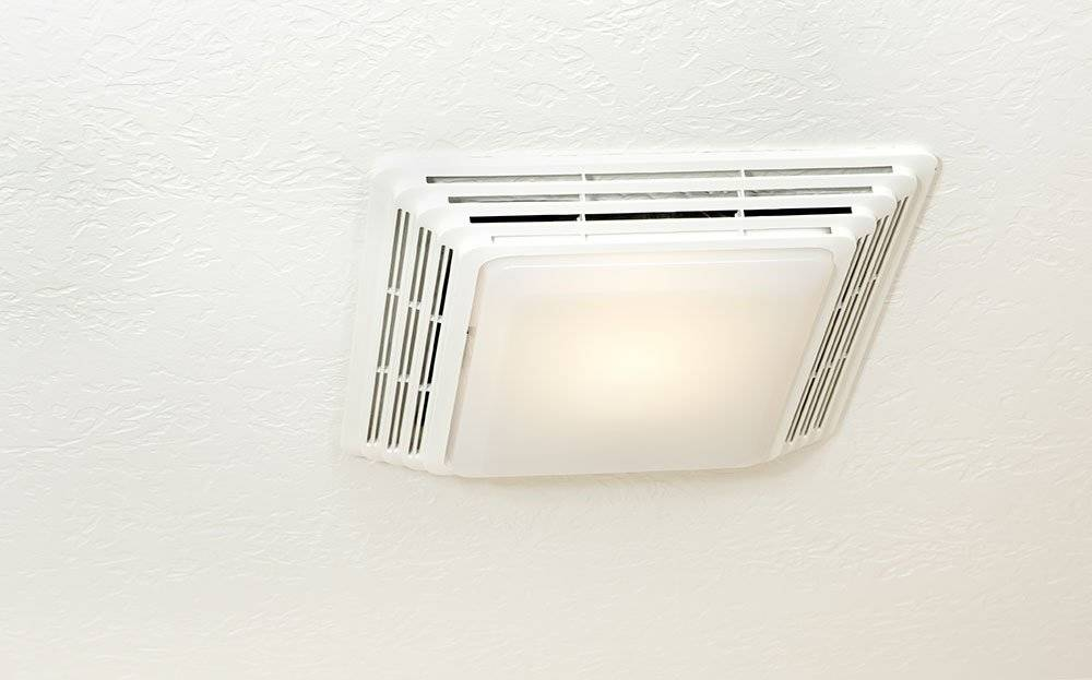 Installing Exhaust Fan Requires Cutting Ceiling Wall Holes