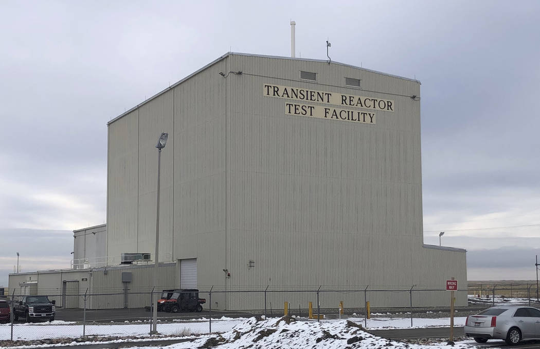This Nov. 29, 2018 photo shows the exterior of the Transient Reactor Test Facility at Idaho Nat ...
