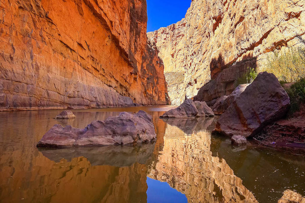 Rio Grande river flows through Santa Elena Canyon in Big Bend National Park. (Getty Images)