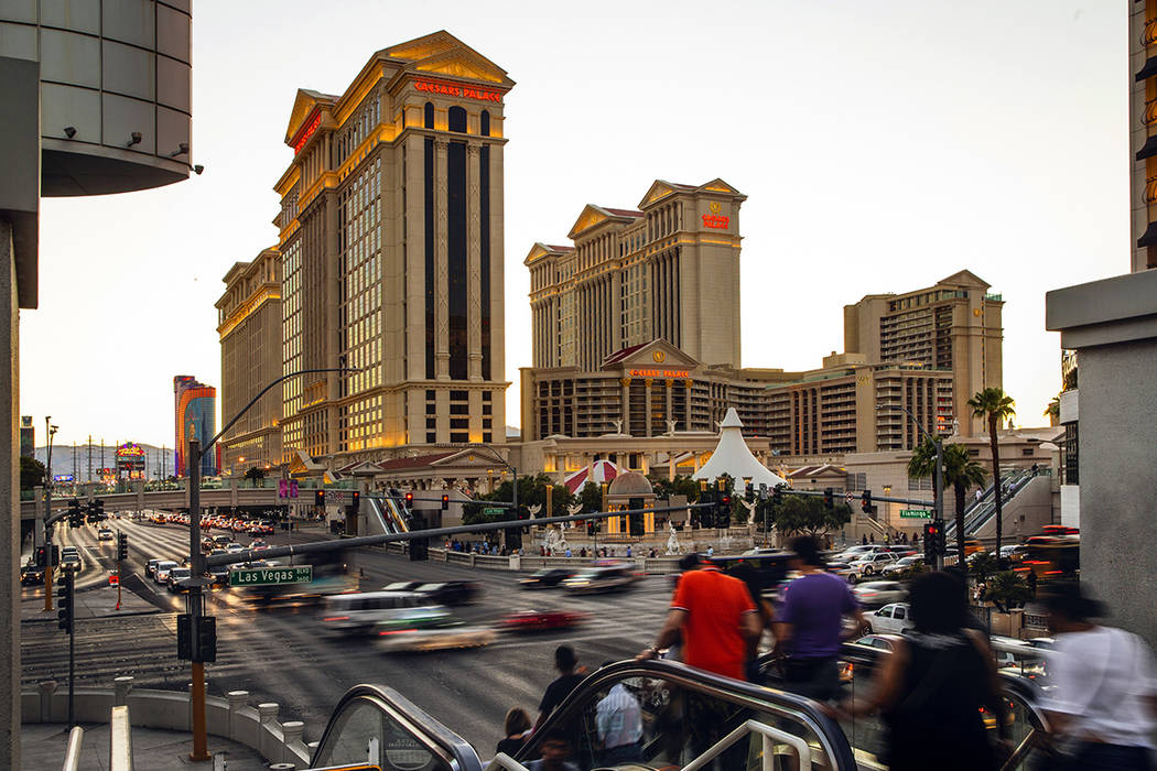 A Sunday, June 23, 2019, photo shows Caesars Palace in Las Vegas. A casino juggernaut was forme ...