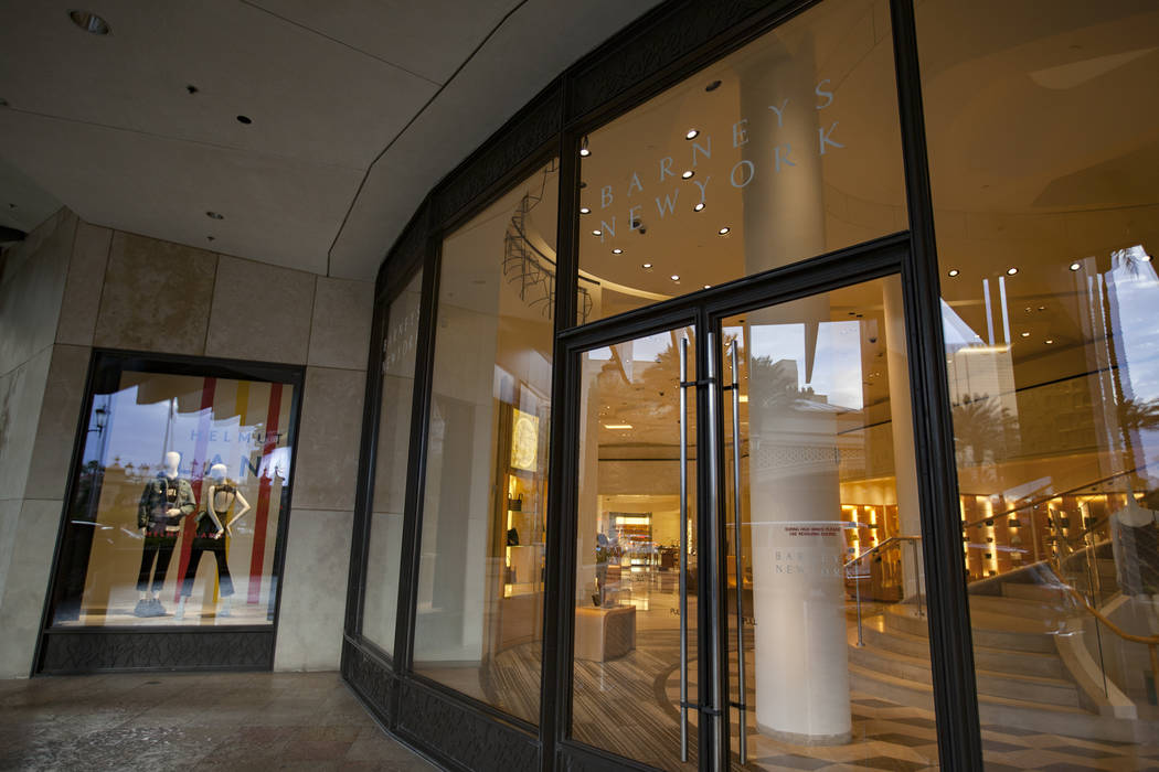 Barneys' Las Vegas store to close as company seeks bankruptcy