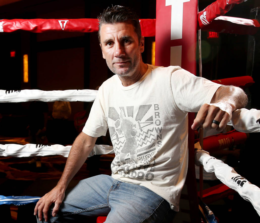 Nevada Boxing Hall of Fame inductee Wayne McCullough during the hall's meet and greet/fan exper ...