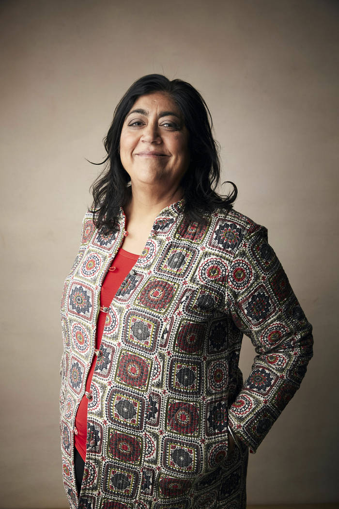 "Writer/director Gurinder Chadha poses for a portrait to promote the film ""Blinded by the L ..."