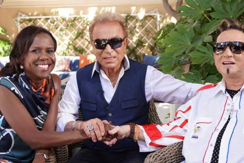 "Siegfried and Roy meet with ""Good Morning America's"" Deborah Roberts at the Secret Garden at th ..."