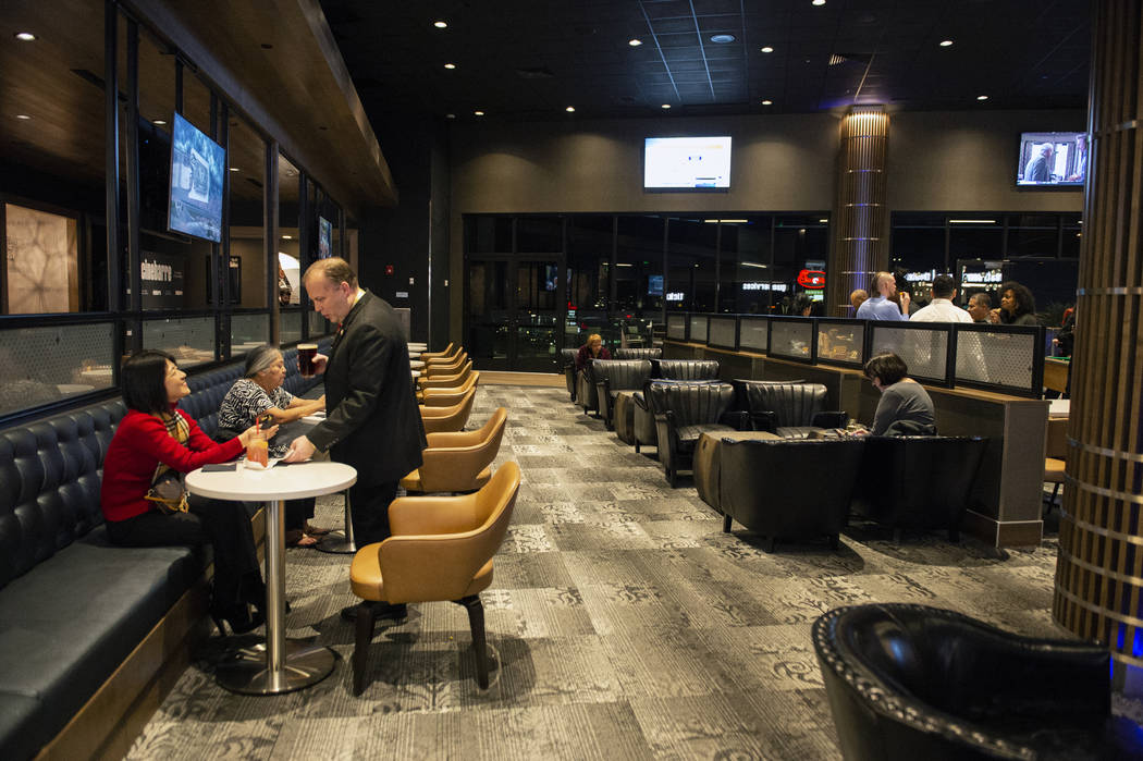 Regal's Cinebarre, Palace Station's new movie theater, hosts its grand opening in Las Vegas, Tu ...