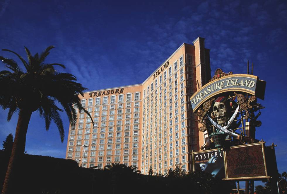 Treasure Island, pictured here 1998, received a makeover in 2003.