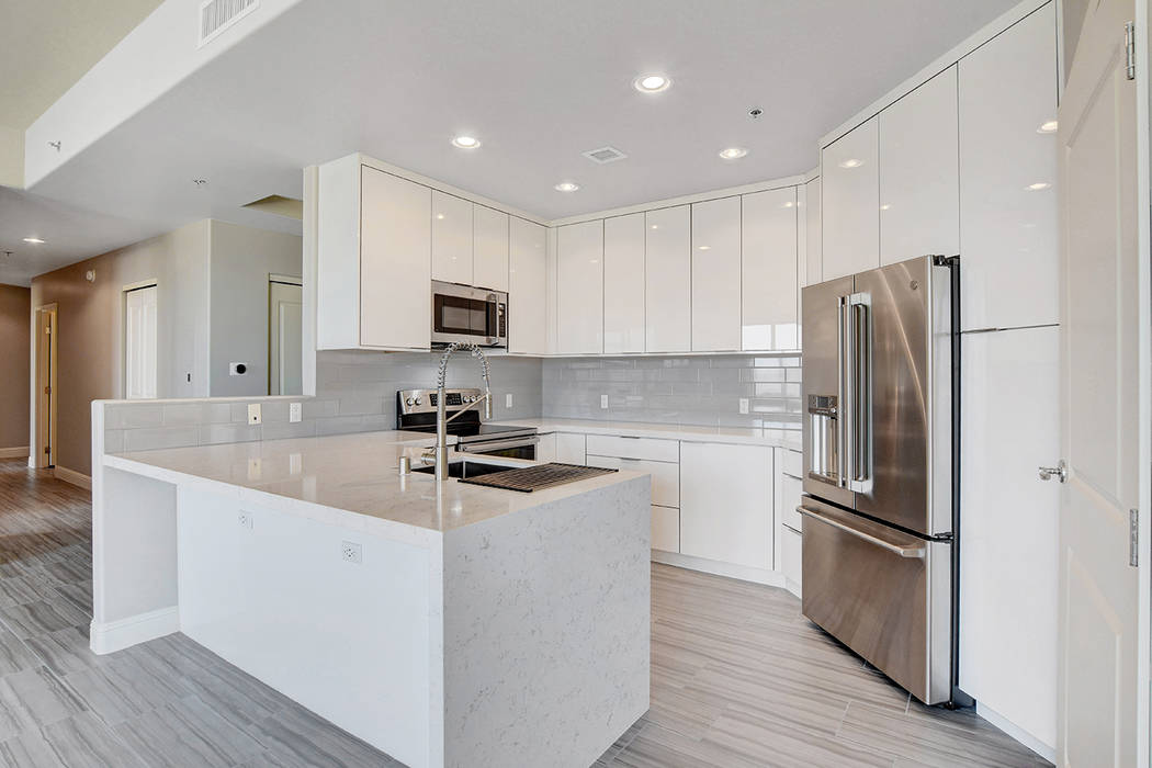 Residence No. 1919 at One Las Vegas home measures 2,098 square feet and features 10-foot ceilin ...