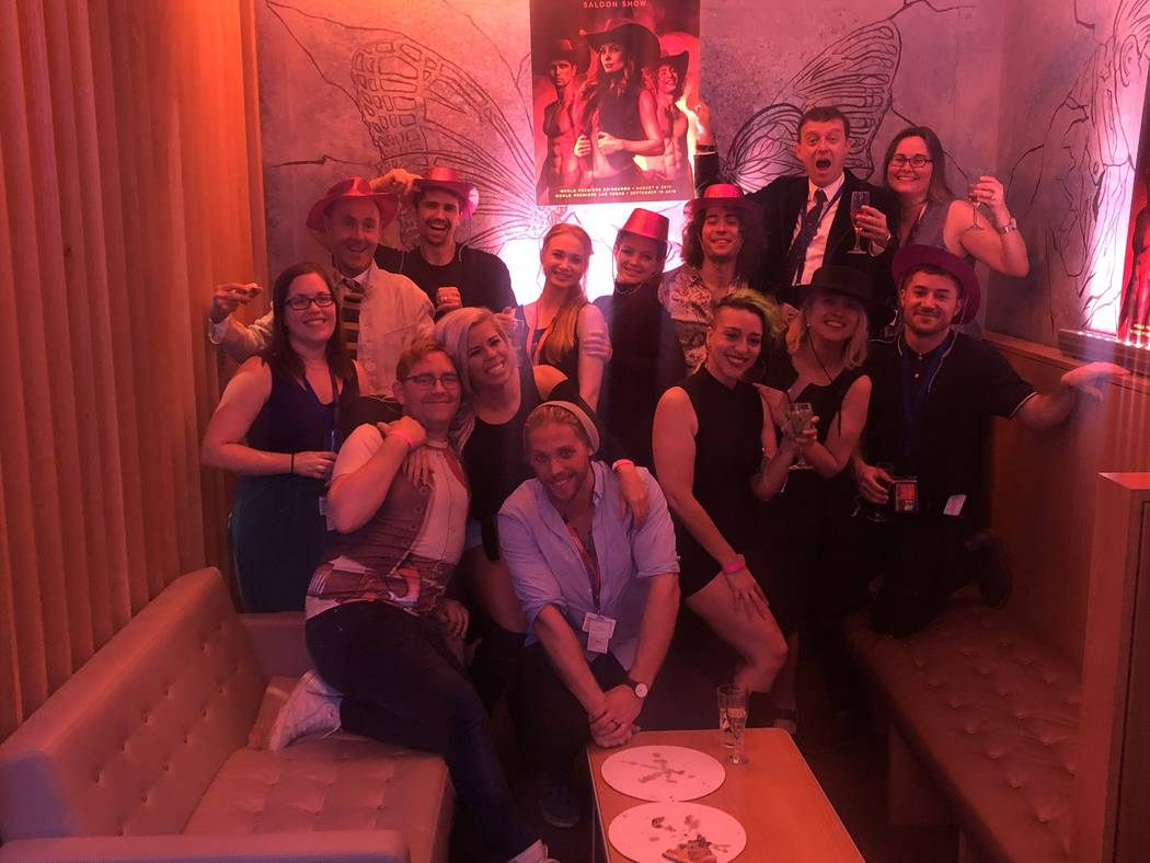"""A late-night cast shot from the post-party for """"Atomic Saloon Show"""" at Edinburgh Festival Fring ..."""