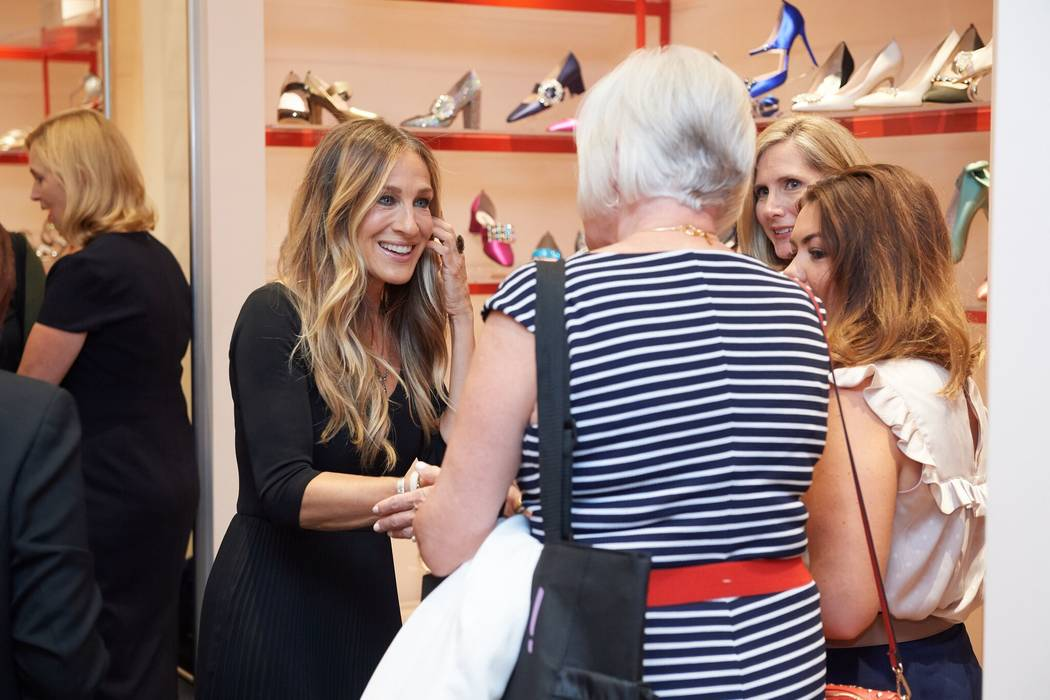 Sarah Jessica Parker meets with fans at her SJP store at Bellagio on Thursday, Aug. 16, 2018. ( ...