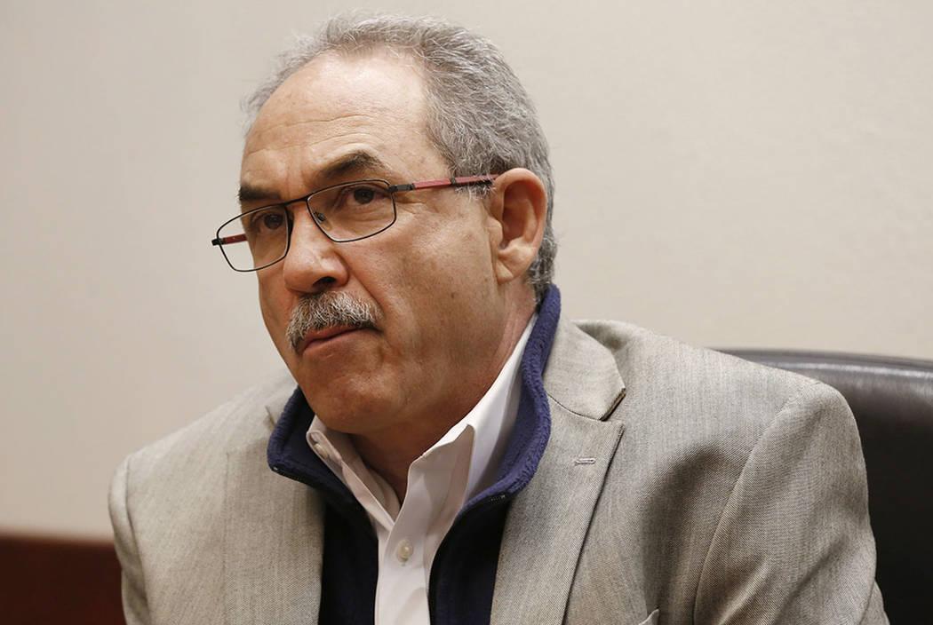 John Vellardita, Clark County Education Association executive director, is seen in 2016 in Las ...