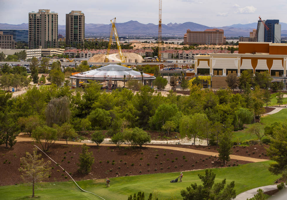 The Wynn Golf Club, convention center and pavilion are shown under construction on Tuesday, Jul ...