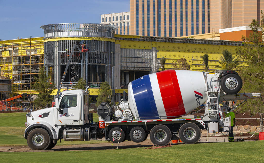 Work continues at the Wynn convention center and Wynn Golf Club on Tuesday, July 30, 2019, in L ...