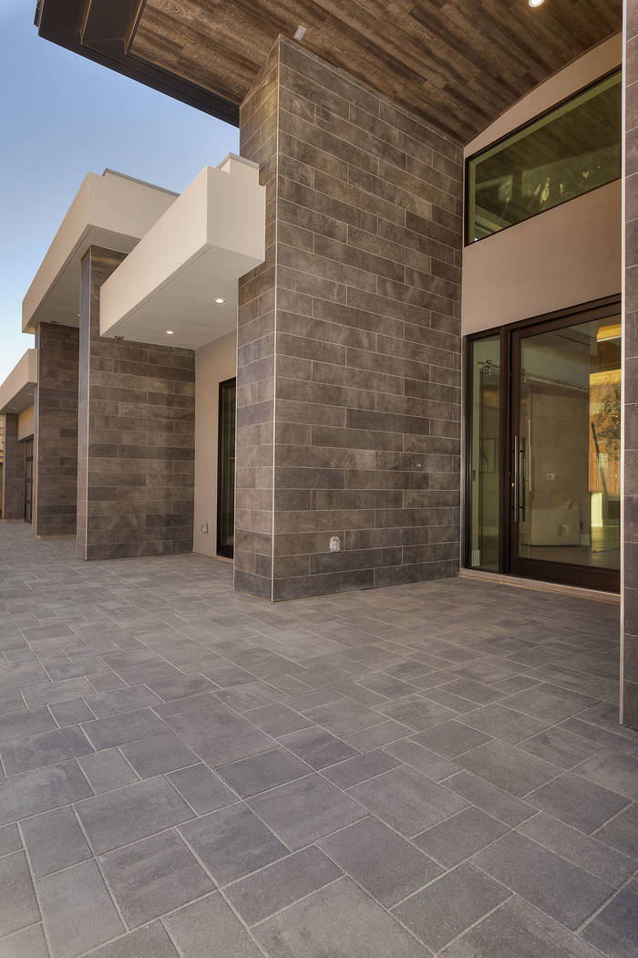The home's entrance. (Synergy Sotheby's International Realty)