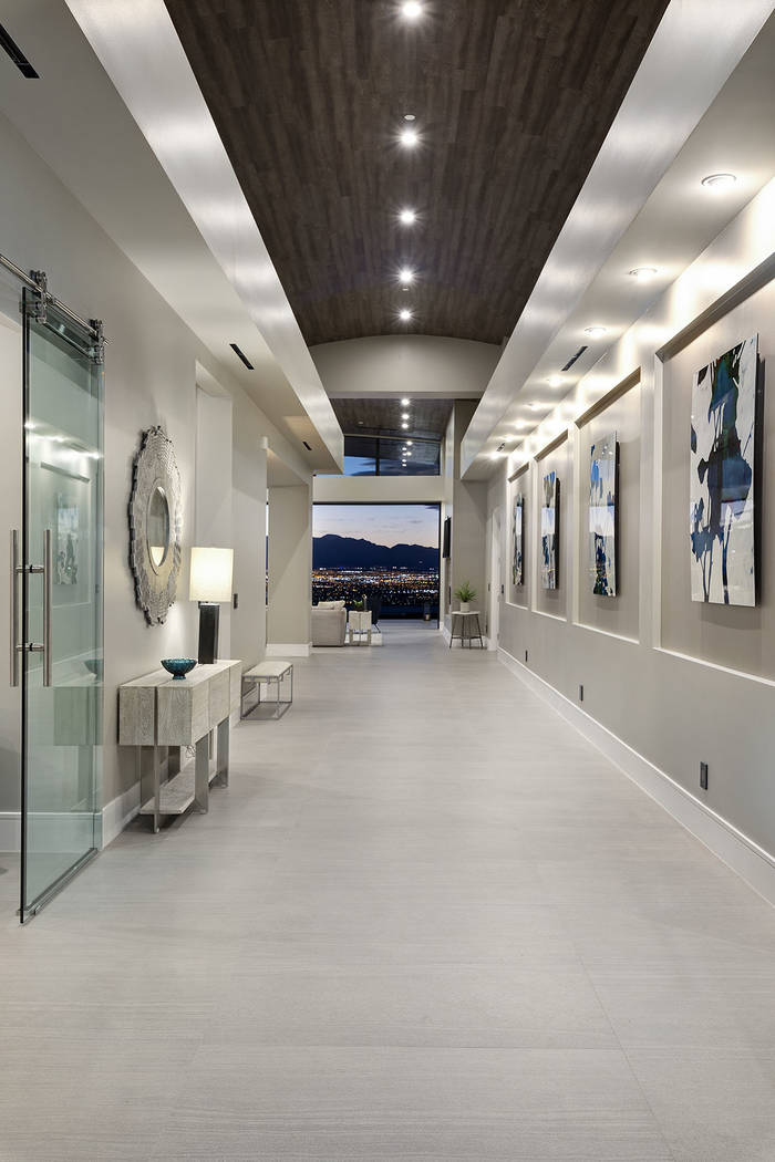 The hallway is designed for art. (Synergy Sotheby's International Realty)
