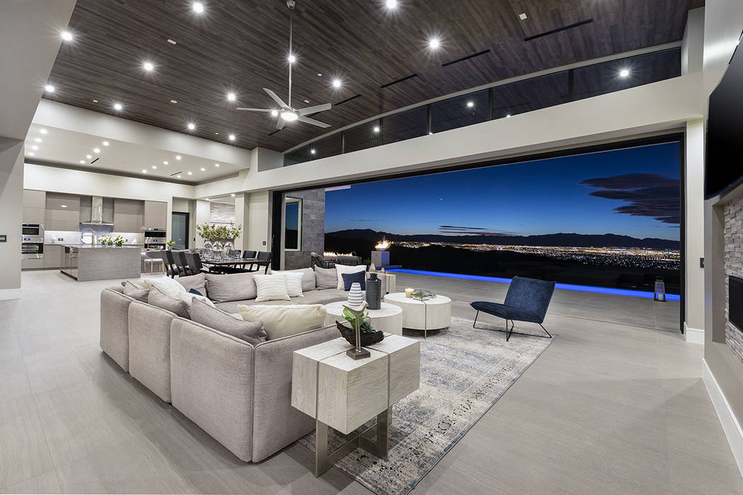 The Richard Luke Collection in MacDonald Highlands has sweeping views of the Las Vegas Strip (S ...