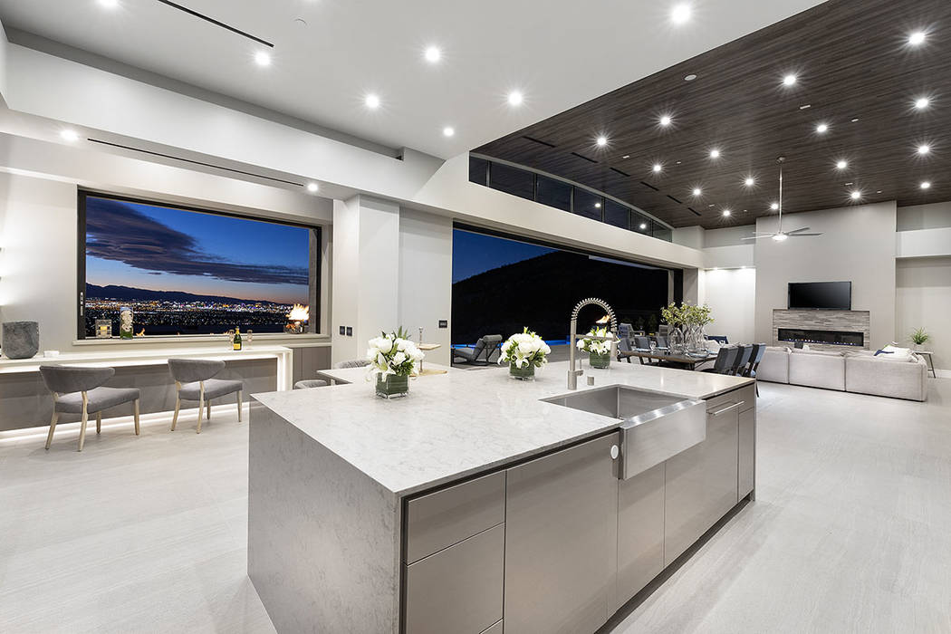 Even the kitchen has its own view of the Las Vegas Strip. (Synergy Sotheby's International Re ...