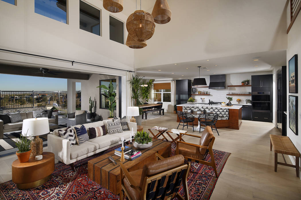 Bassenian Lagoni Architects Nova Ridge in Summerlin by Pardee Homes has a contemporary design.