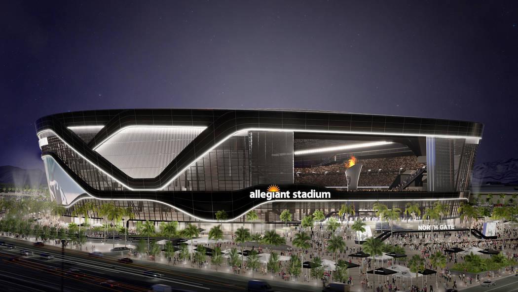 Rendering of the $1.9 billion Allegiant Stadium in Las Vegas. Courtesy: Allegiant Air