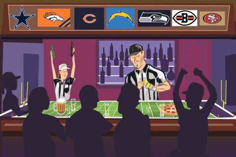 The Review-Journal is compiling a directory of NFL bars around the Las Vegas Valley as an easy ...