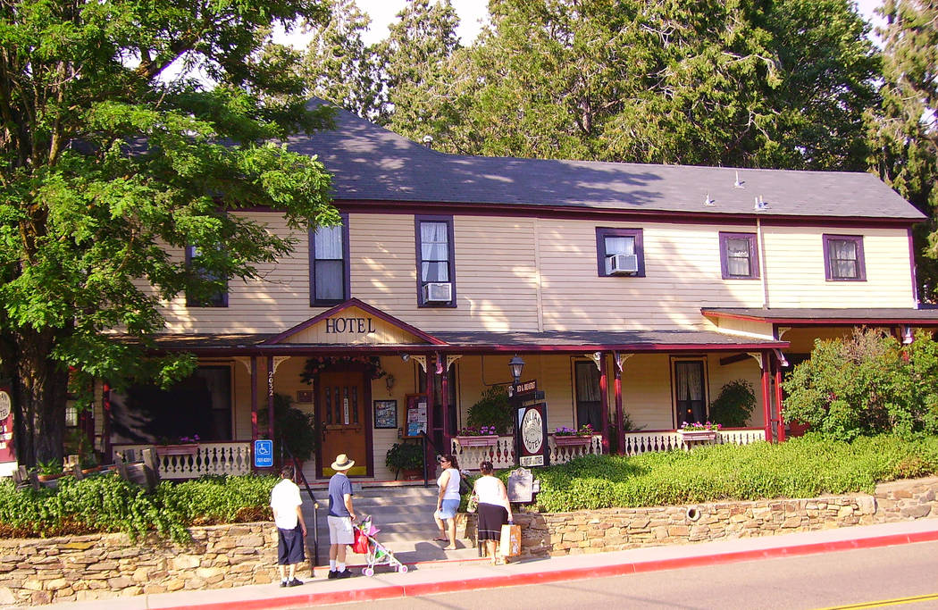 The Julian Gold Rush Hotel is now a bed-and-breakfast. It was built in 1897 and is listed on th ...