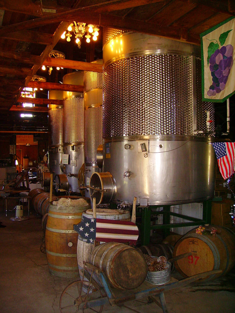 Although Julian is best known for its apples, visitors also come to tour the local wineries. (D ...