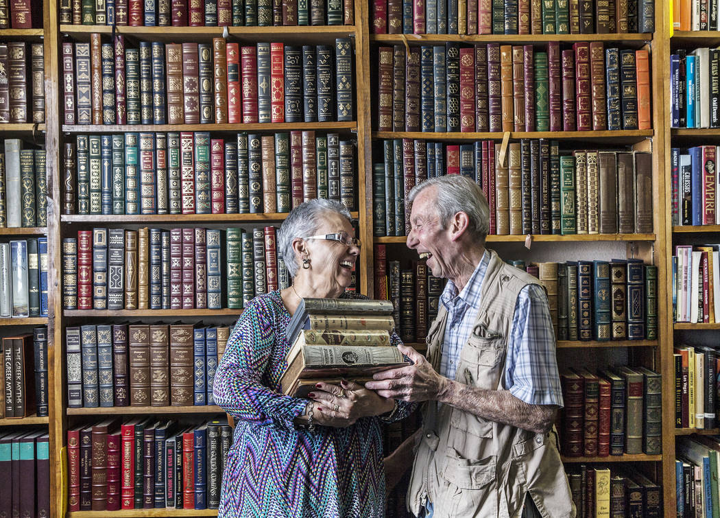 Amber Unicorn Books owners Myrna and Lou Donato have co-owned Las Vegas' oldest bookstore for t ...